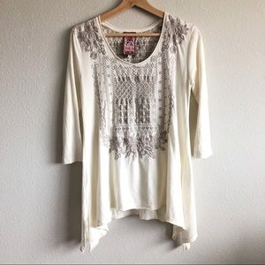 Johnny was JWLA  embroiled tunic top